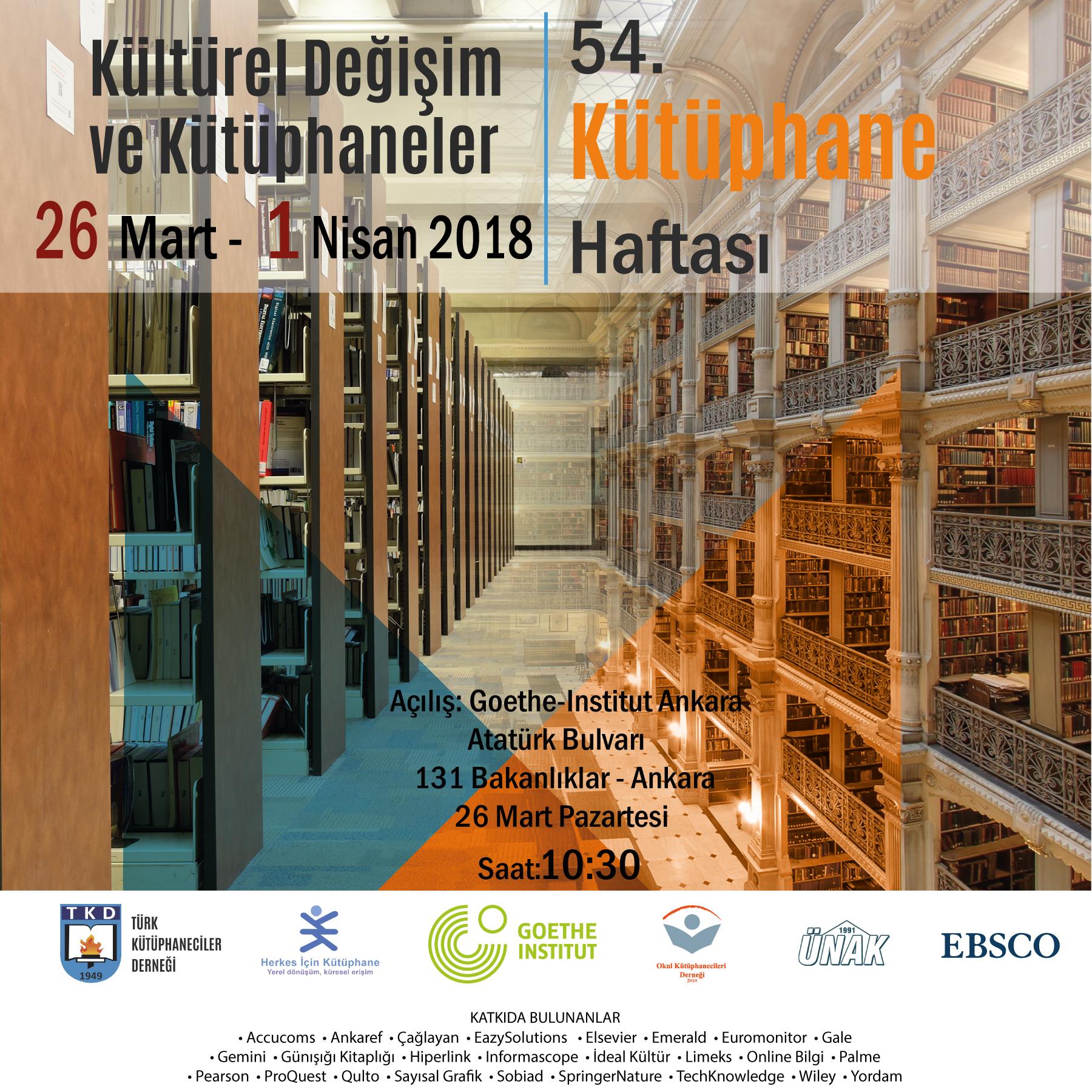 54. Kütüphane Haftası: Kültürel Değişim ve Kütüphaneler