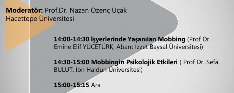 Mobbing ve Çalışma Hayatına Yansımaları Paneli, 1 Haziran 2018 Cuma, Goethe Enstitüsü Ankara